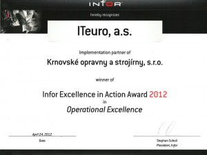 Infor Excellence in Action Award 2012
